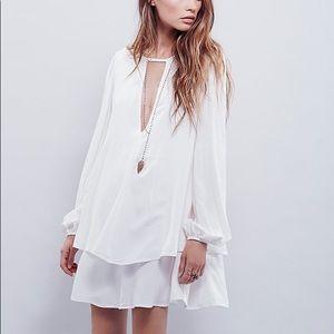NWT Free People White Beck Tunic Dress